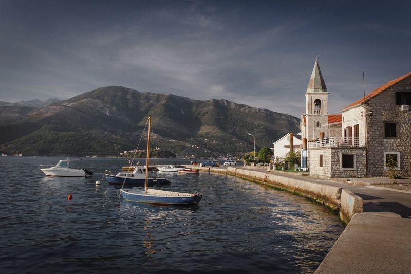 montenegro, bar, nerozya, tivat, budva, черногория, travel, nature, europe, пераст, perast Тихая набережнаяphoto preview