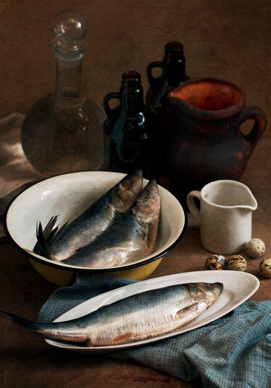 натюрморт, рыба С селедкойphoto preview