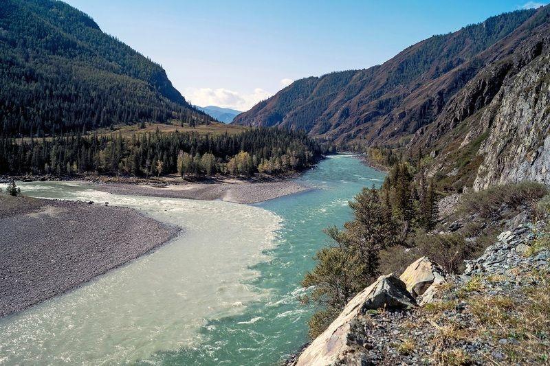природа алтай пейзаж  инегень горы река катунь аргут слияние красота ущелье Место силы...photo preview