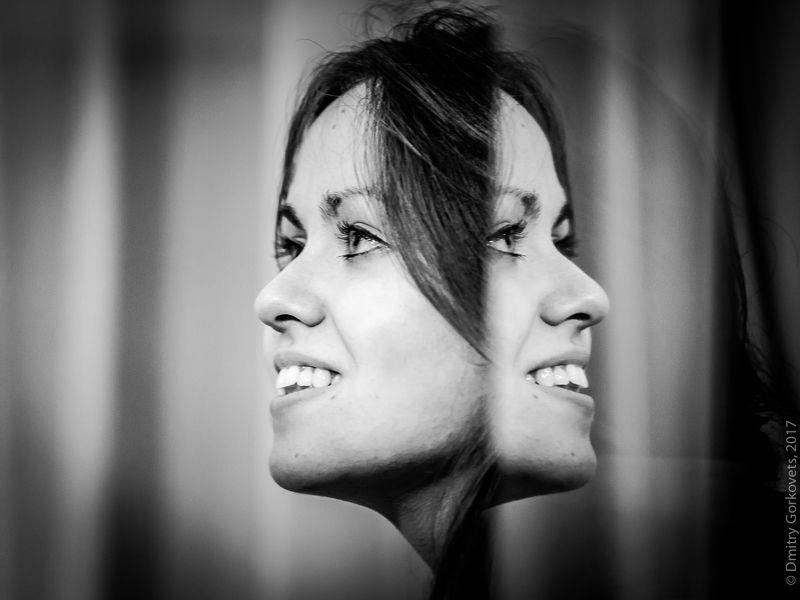 #портрет #отражение #неверэндингфан #алексейникишин #photobydmitrygorkovets #portrait #bw #bnw Отражениеphoto preview