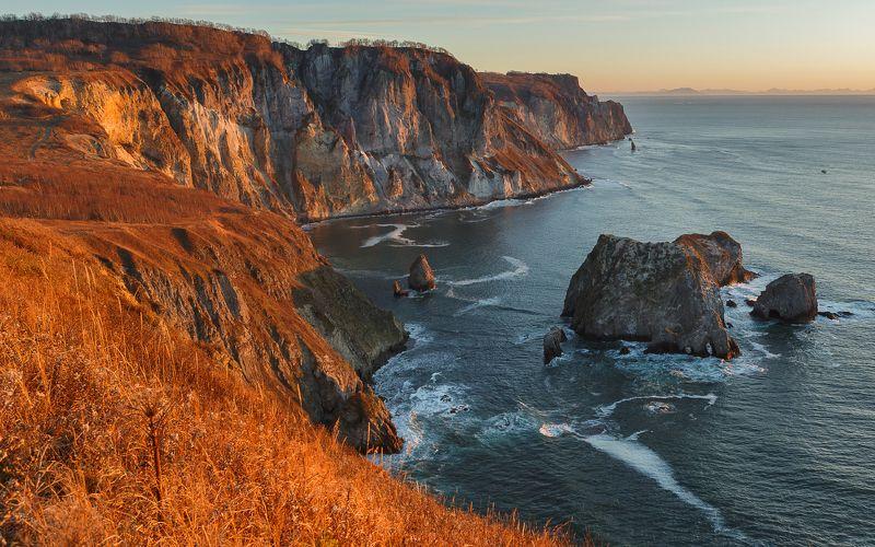 камчатка тихий океан Рассвет в бухте Гротоваяphoto preview