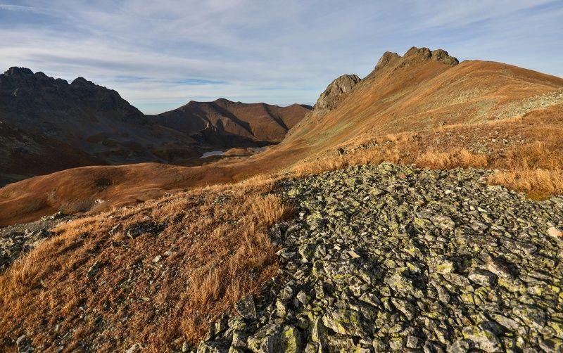 горы, закат, озеро На подходе к пятиозёрьюphoto preview