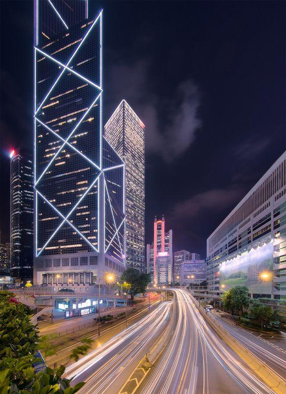 гонконг, город, ночь Гонконг живёт ночьюphoto preview