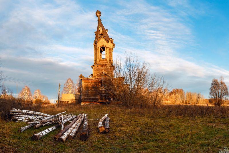 Деревянная церковь в с.Альдияphoto preview