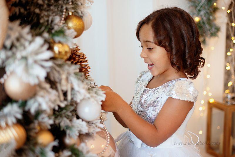 девочка, свет, новый год, портрет, елка, праздник, счастье, girl, portrait, light Новогодняя принцессаphoto preview