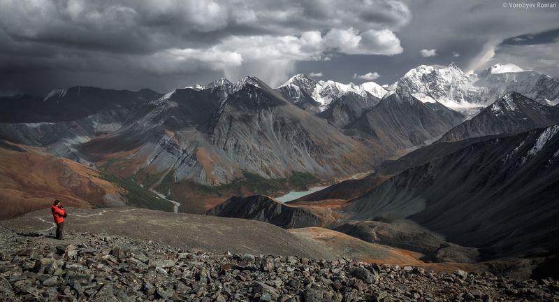 алтай, горы, снег, первый снег, горный алтай, осень, белуха Встречаphoto preview