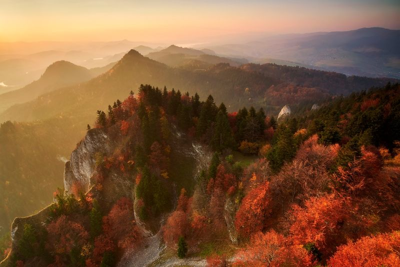 autumn, landscape, sunset, pieniny Pieninyphoto preview
