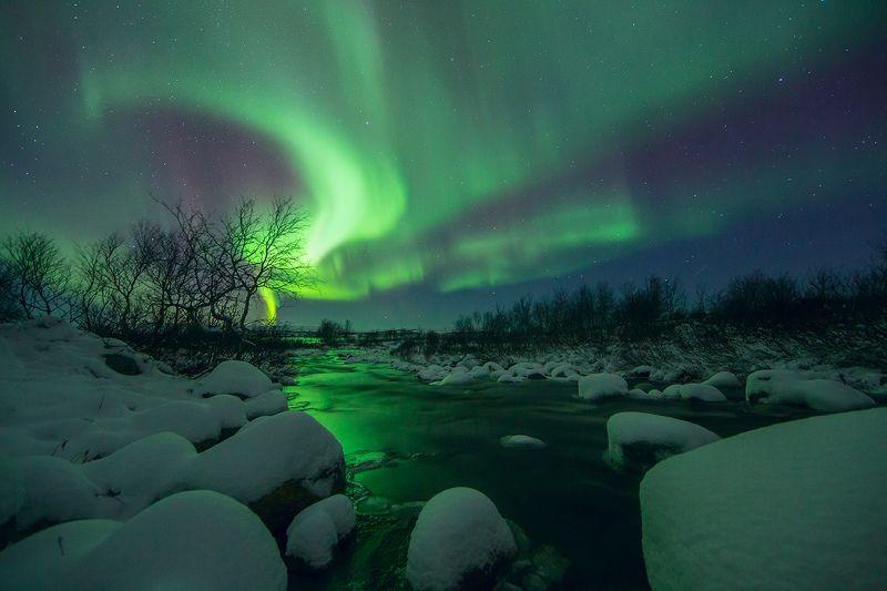 пейзаж, природа, кольский п-ов, полярное сияние ***photo preview
