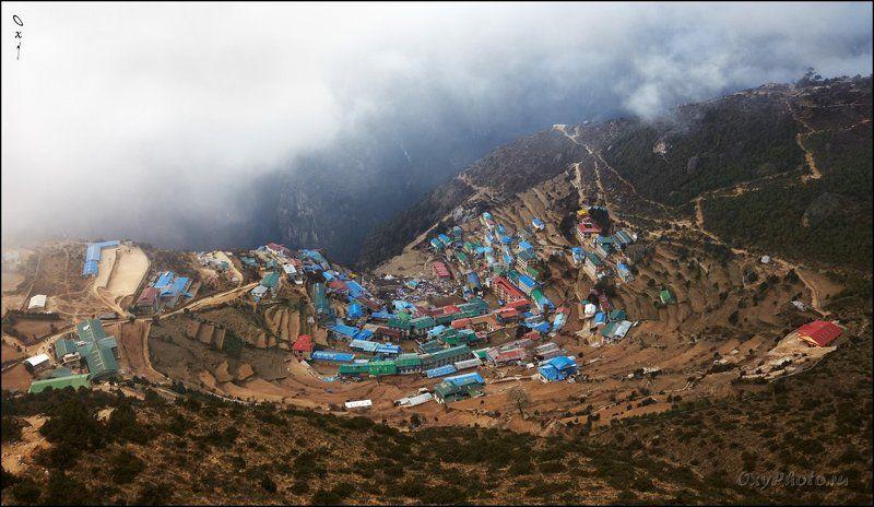непал, гималаи, трек к бл эвереста, nepal, himalaya, trek to bc everest Заоблачный городишко...photo preview
