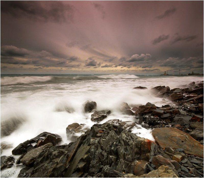 море,шторм,анапа Зимний штормphoto preview
