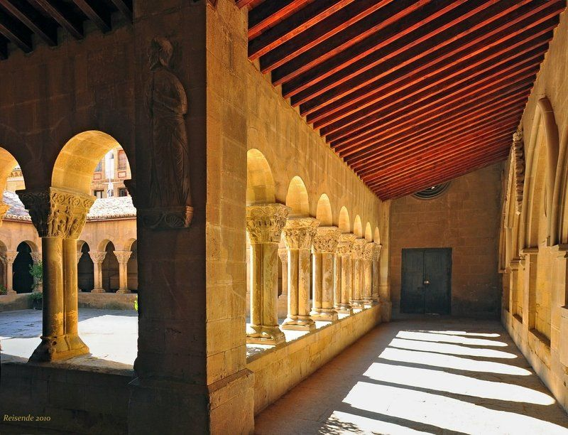испания, арагон, уэска, клуатр, monasterio, san, pedro, viejo Клуатрphoto preview