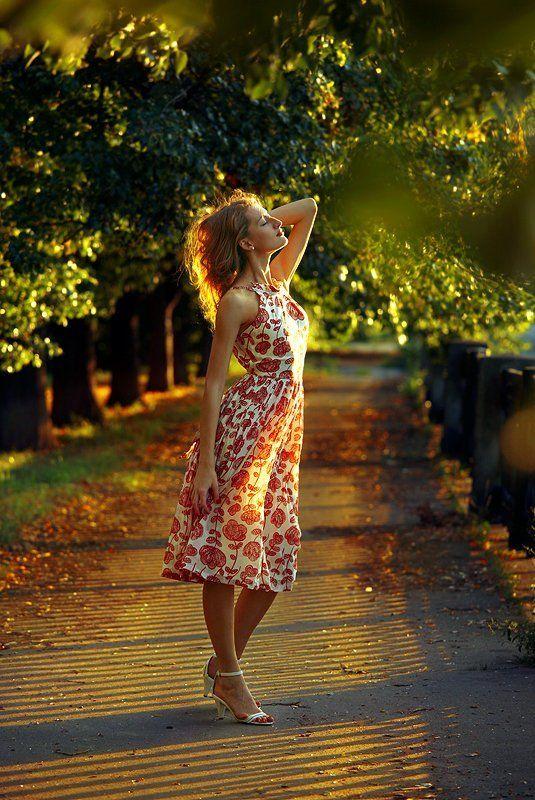 ветер, аллея, солнце, лучи Когда садится алый день...photo preview