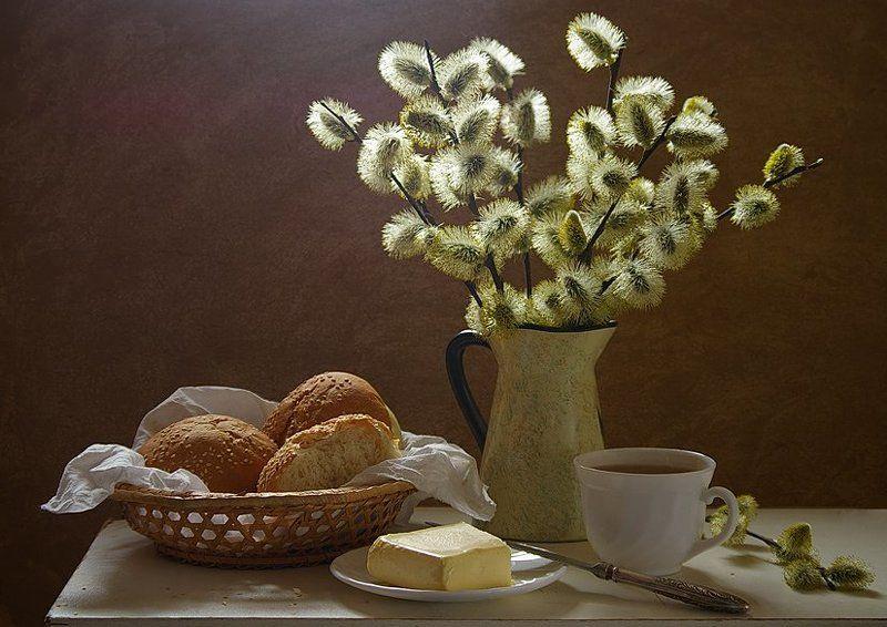 верба, масло, булочки, утро Утренний...photo preview