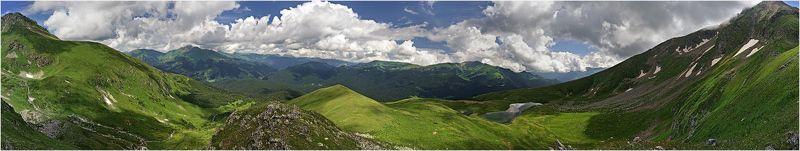 алоус, озеро, горы, кавказ, заповедник, чертовы ворота, ачешбоки, перевал, вершина, панорама, облака Алоусphoto preview