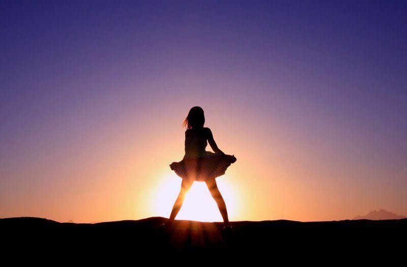 девочка, солнце Девочка и солнцеphoto preview