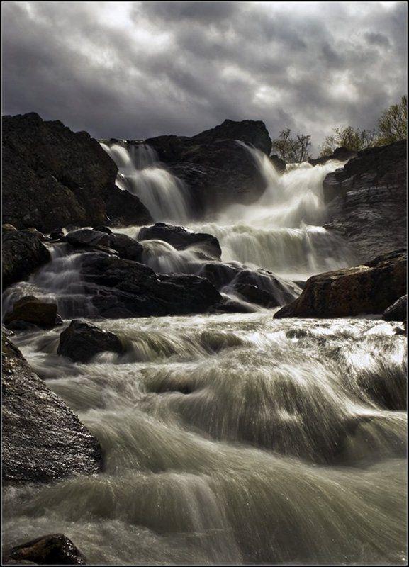кольский, река, титовка, водопад Оно все-таки выглянуло...photo preview