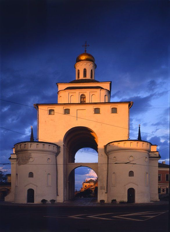 владимир, ворота,закат \
