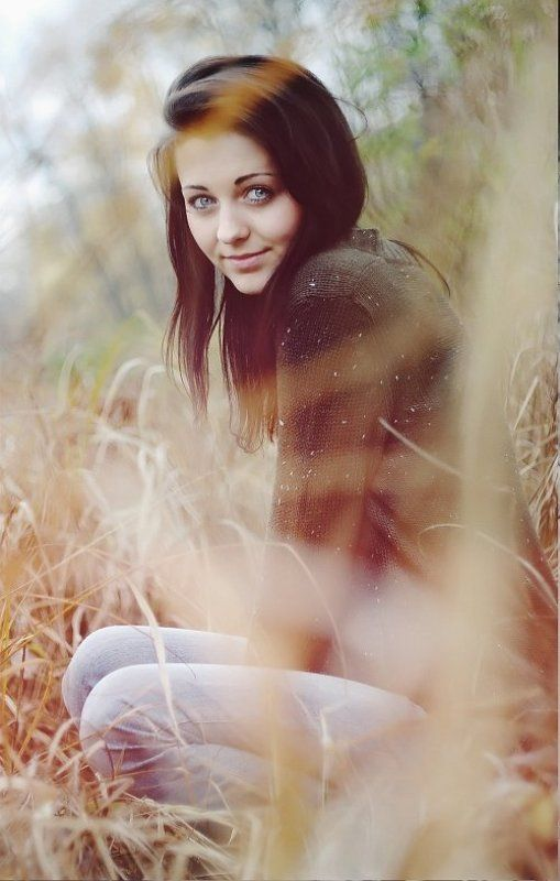 девушка, камыши, осень Nadinphoto preview