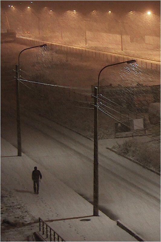 снег,холодно,ночь Первый снег...photo preview