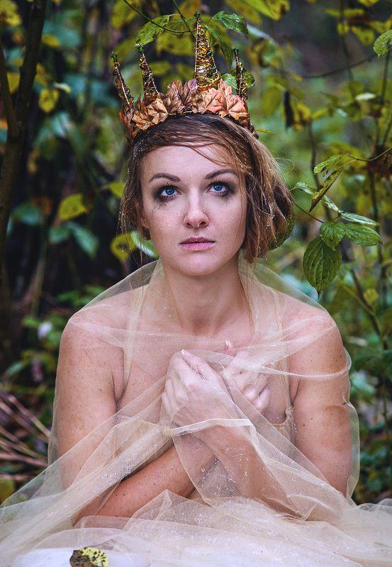 принцесса, сказка, лес, голубые глаза Заблудилась принцесса в лесу.photo preview