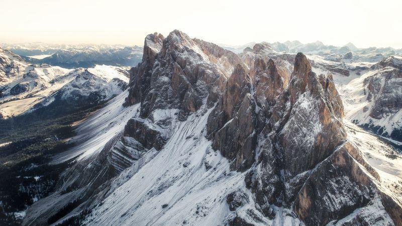 #seceda #italia #италия #горы #доломиты утренний полетphoto preview