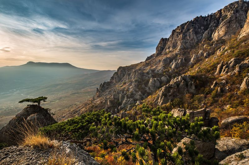 крым, димерджи, вечер, горы Крымские просторы.photo preview