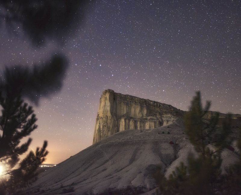 stars, sunset, mountain White Rockphoto preview