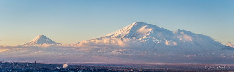 mount, ararat, armenia, yerevan, mountains, sunrise Little Ararat and Greater Ararat as seen from Yerevanphoto preview