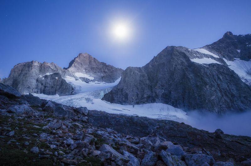 луна, горы, свет, ледник, поход, снег, скалы, nikon Лунный вечерphoto preview