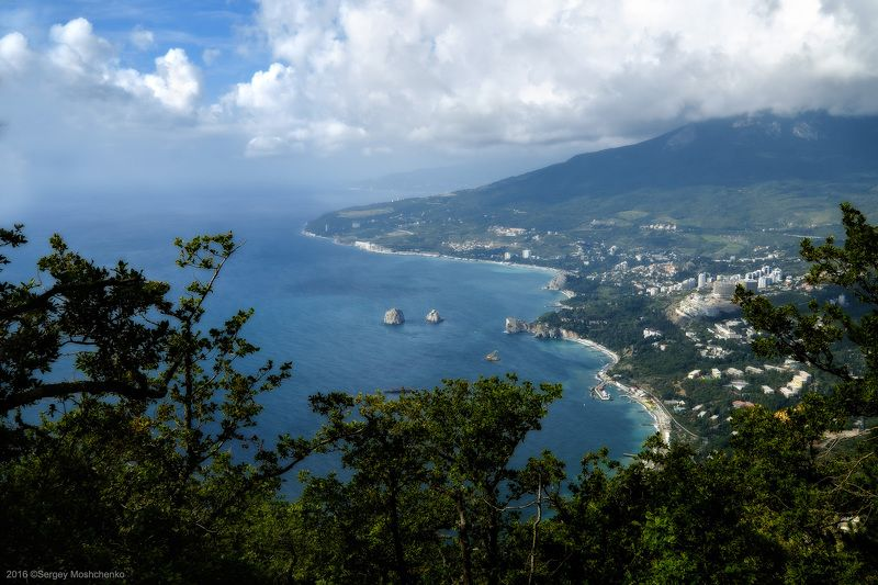 #landscape, #mountains, #crimea, #sea View from the Ayu-dag mountainphoto preview