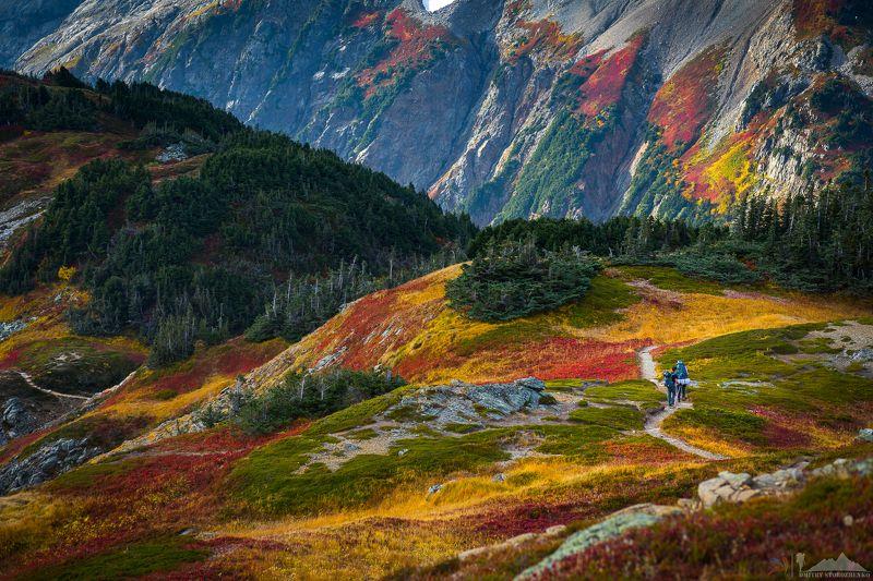 горы, небо, краски, оранжевый, красный, красиво Великие краски горphoto preview