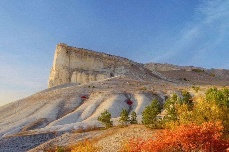 гора, скала, белая, крым, закат, white, rock, sunset, mountain, russia, crimea Белая скалаphoto preview