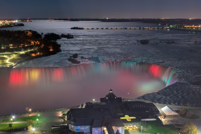 niagara, falls, night, canada, american, waterfall, ontario, nature, water, landscape, new, river, york, scenic, colorful, mist, light, travel, usa Niagara at nightphoto preview