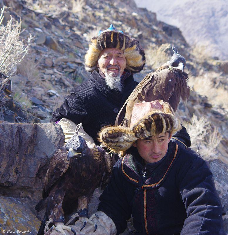 монголия, орел, беркут, охотник, беркутчи ***photo preview