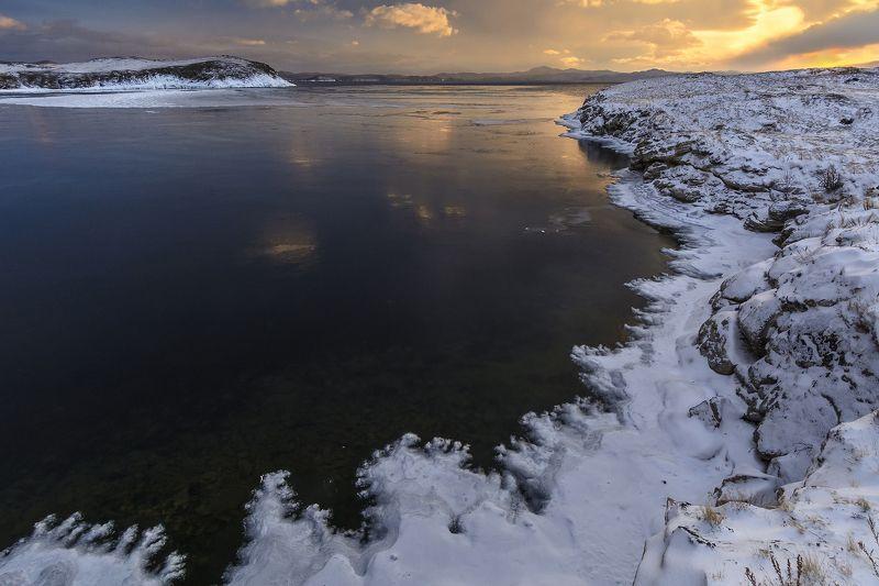 байкал, лед, закат, снег, вода, природа Ледяное кружевоphoto preview