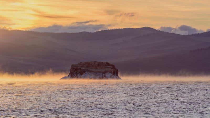 байкал, лед, рассвет, снег, вода, природа Сказочный рассветphoto preview