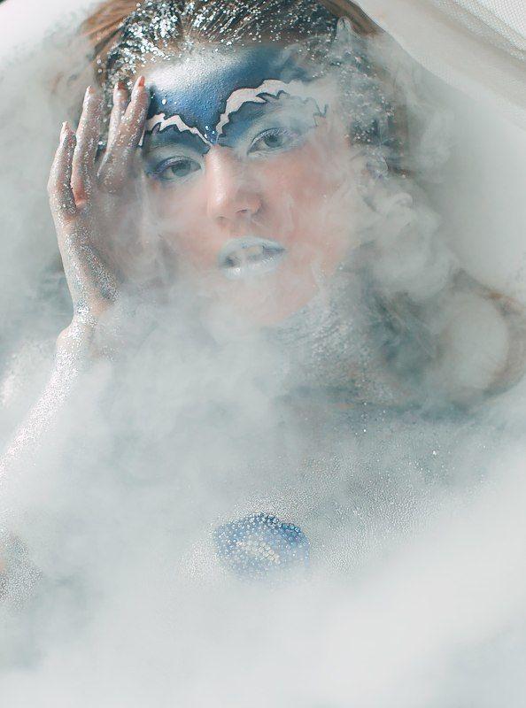 девушка, серебро, глиттер, снежная королева Кристинаphoto preview