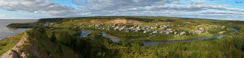 #dervod #Drevo Деревня Лямца, берег Белого моря.photo preview