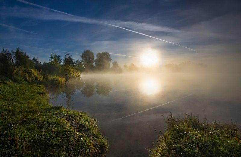 утро, рассвет, туман, солнце, свет ,небо, валерий_чичкин Летним утромphoto preview
