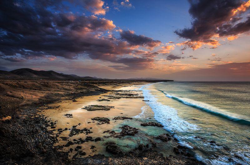 Playa del Castillo, sunset,sunrise,spain Playa del Castillophoto preview