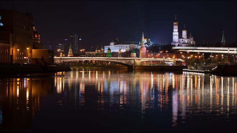 город, столица, Москва, Московский, Кремль, ночь, река, отражение, мост Россия. Москва. Московский Кремль.photo preview