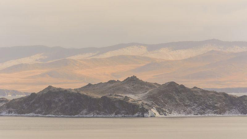 природа, Байкал, острова, вода, облака, лед, рассвет Пастельphoto preview
