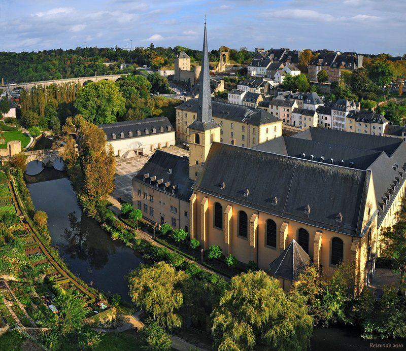 люксембург, столица, грунд, ноймюнстер, река, альзетт Neumuensterphoto preview