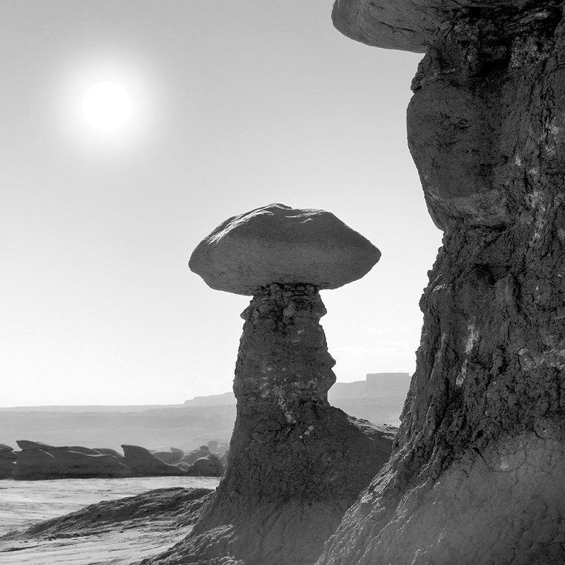 utah, mountains, desert, rock formations, landscape, black white, goblin, stream, river Utah Outback 19photo preview