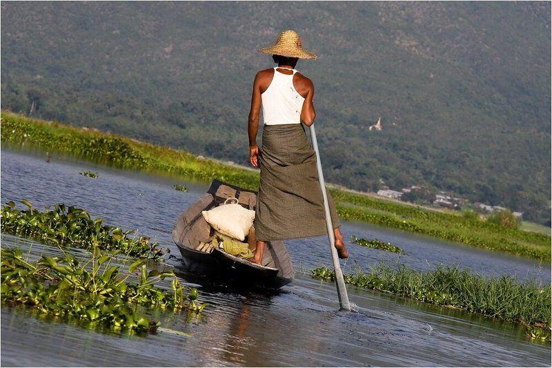 мьянма,озеро,инле,лодка Вертикаль...photo preview