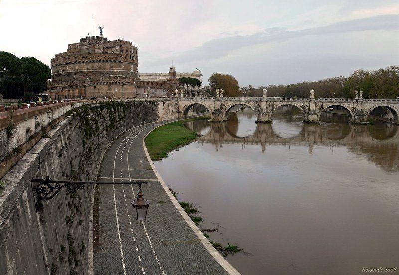 италия, рим, ватикан, замок, мост, св., ангел Над Тибромphoto preview