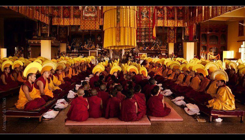 гьюто, тибет, горловое пение, буддизм, тантра, ритуал Тибетский Верхний Тантрический Монастырь Гьюто (ритуал)photo preview
