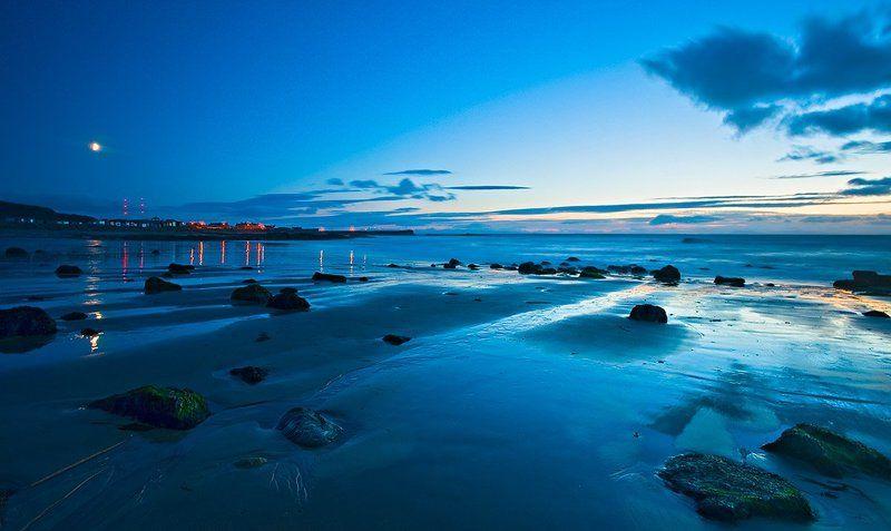 шотландия, море, вечер Отлив в Форресеphoto preview