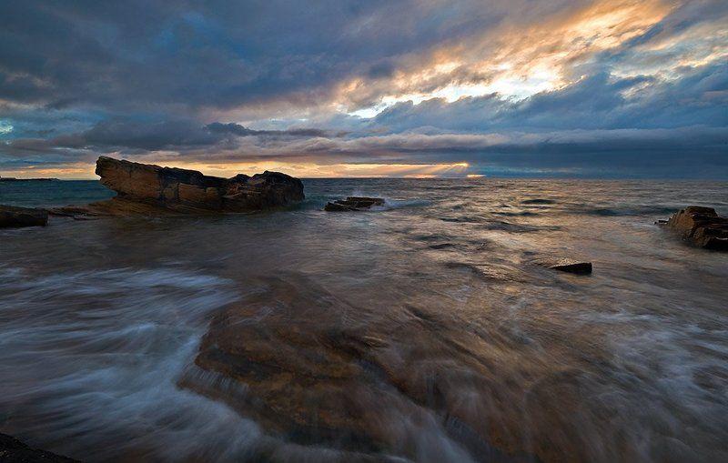 шотландия, северное море, вечер,море Вечерний приливphoto preview