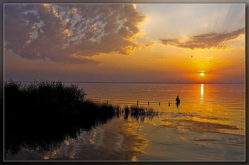 одесса,белгород-днестровский,лиман,закат,рыбалка Вечерняя рыбалкаphoto preview